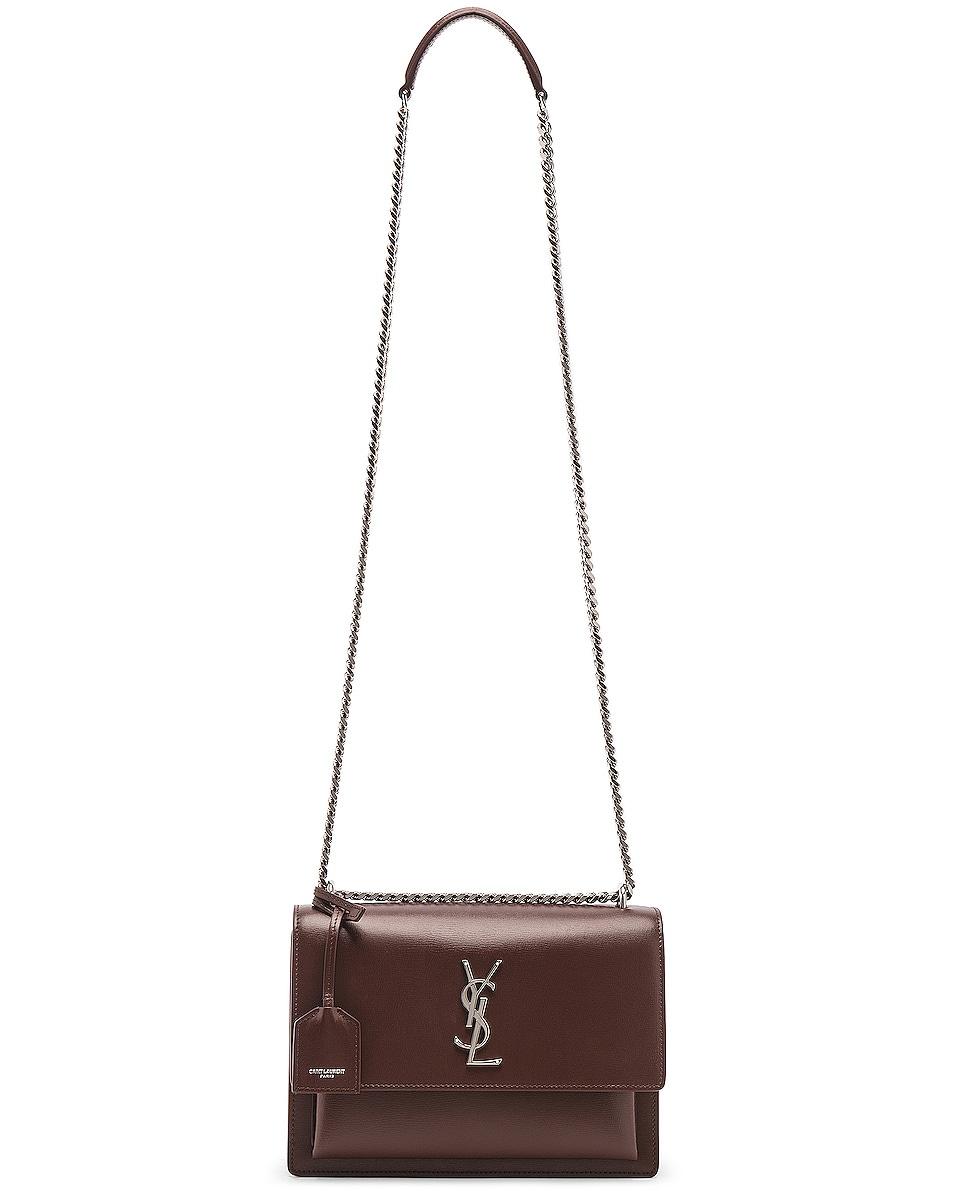 Image 6 of Saint Laurent Monogramme Sunset Shoulder Bag in Old Brandy