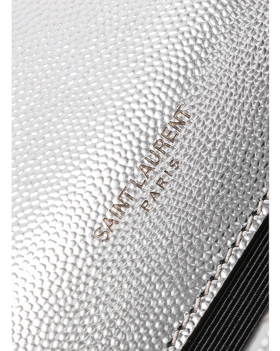 Image 6 of Saint Laurent Medium Envelope Monogramme Bag in Silver