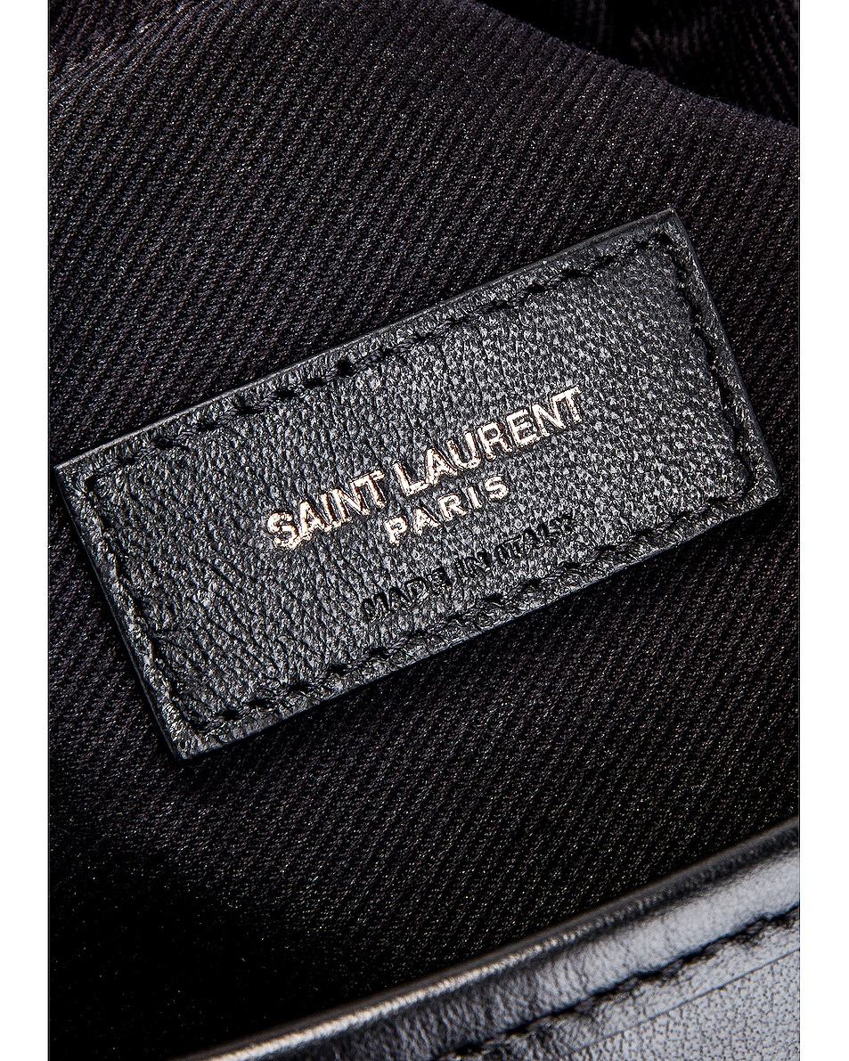 Image 6 of Saint Laurent Teddy Detachable Pouch Shopping Tote in Black & Black