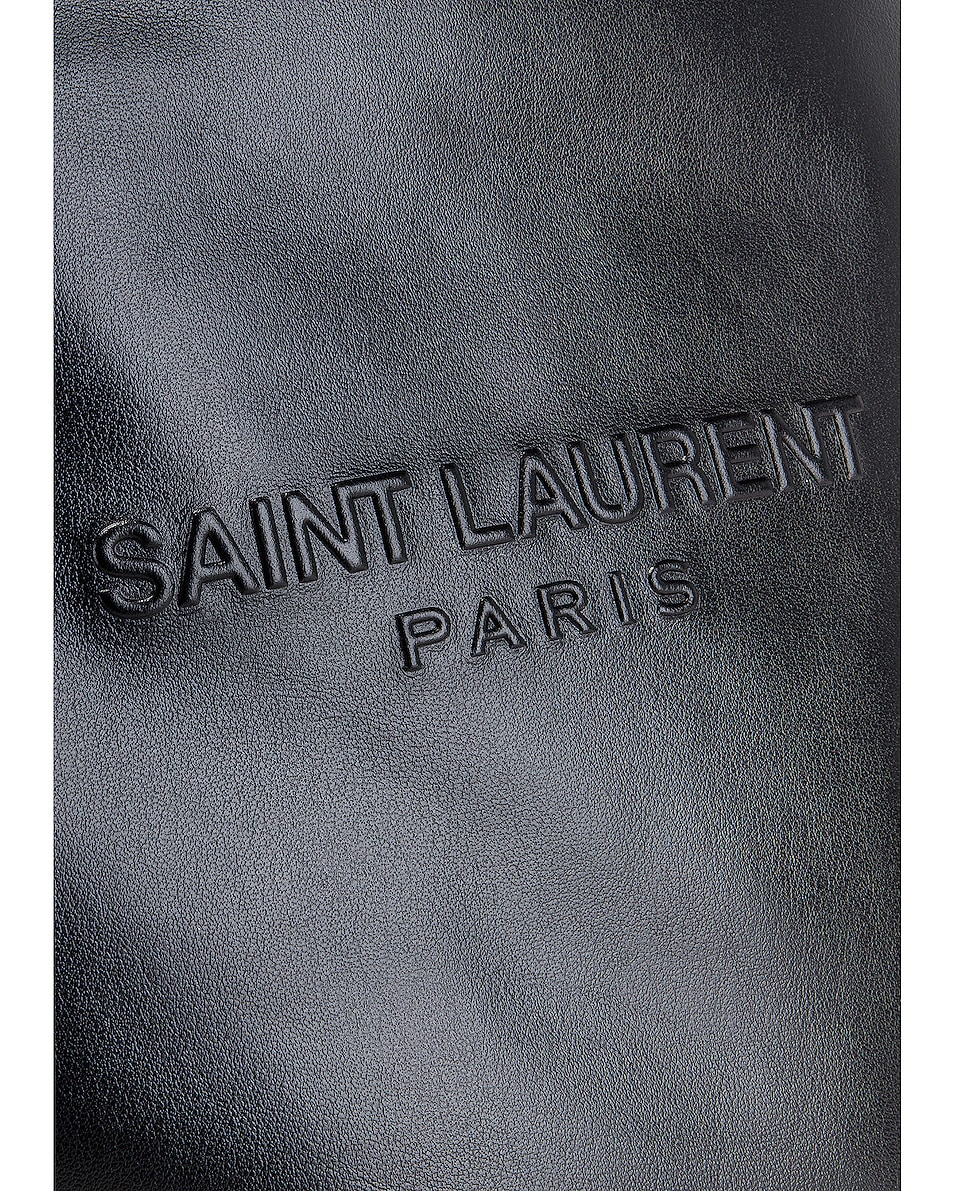 Image 7 of Saint Laurent Teddy Detachable Pouch Shopping Tote in Black & Black