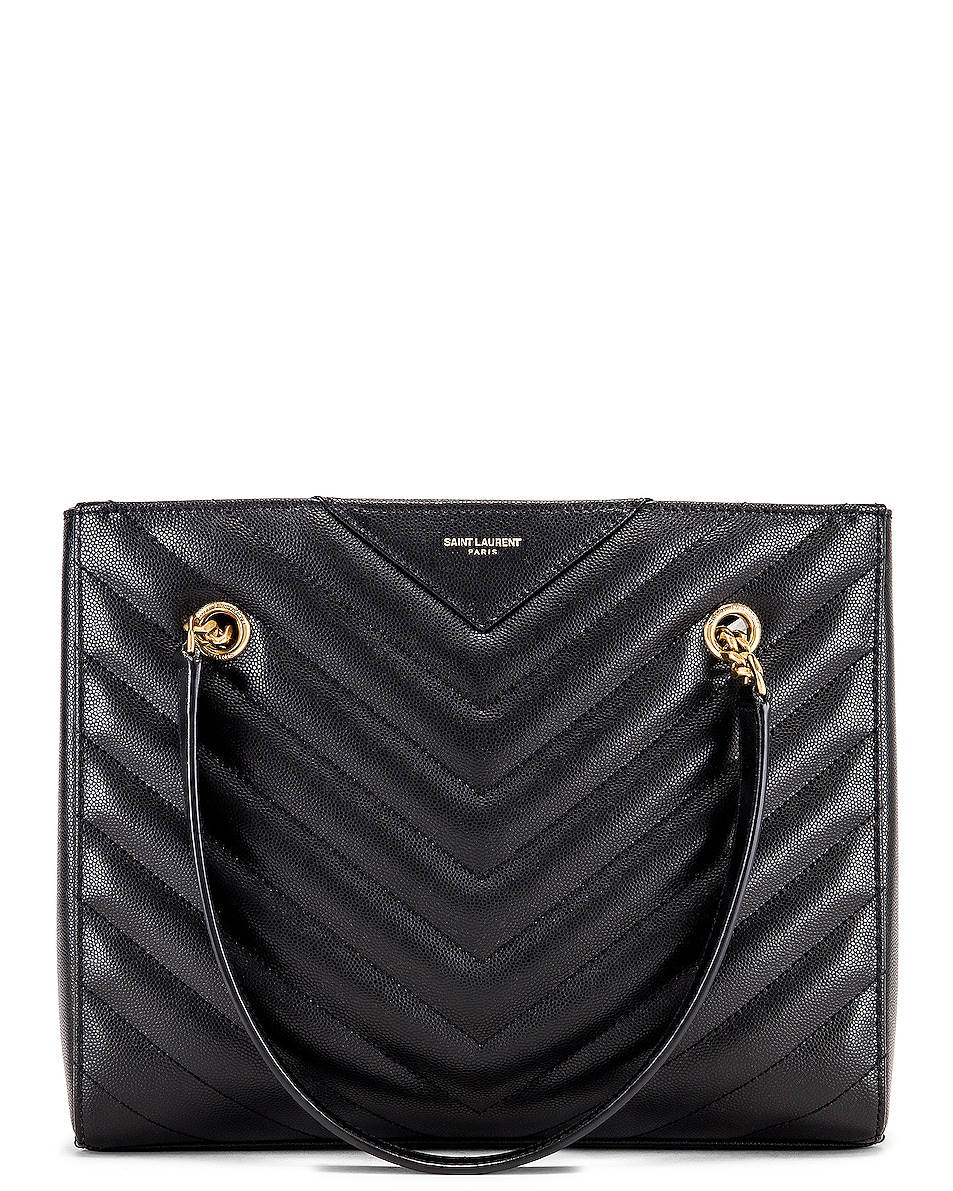 Image 1 of Saint Laurent Small Tribeca Bag in Black