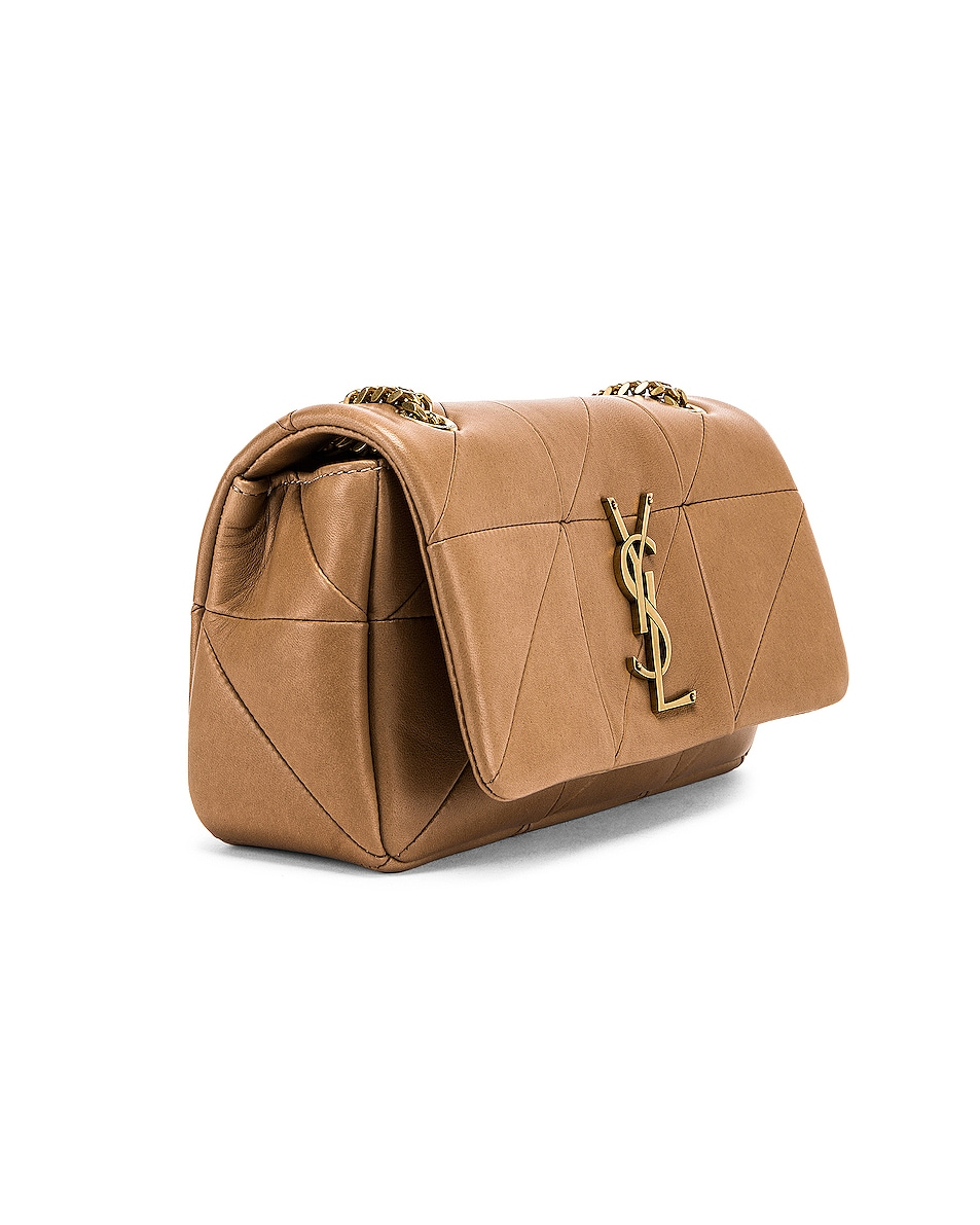 hot sale 2019 Saint Laurent Small Jamie Chain Patchwork Bag Taupe Fonce