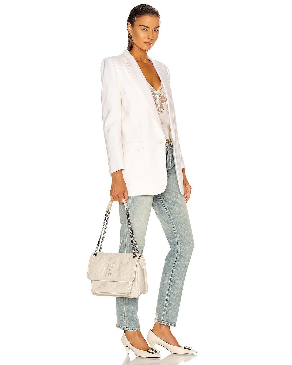 Image 2 of Saint Laurent Medium Niki Chain Bag in Blanc Vintage