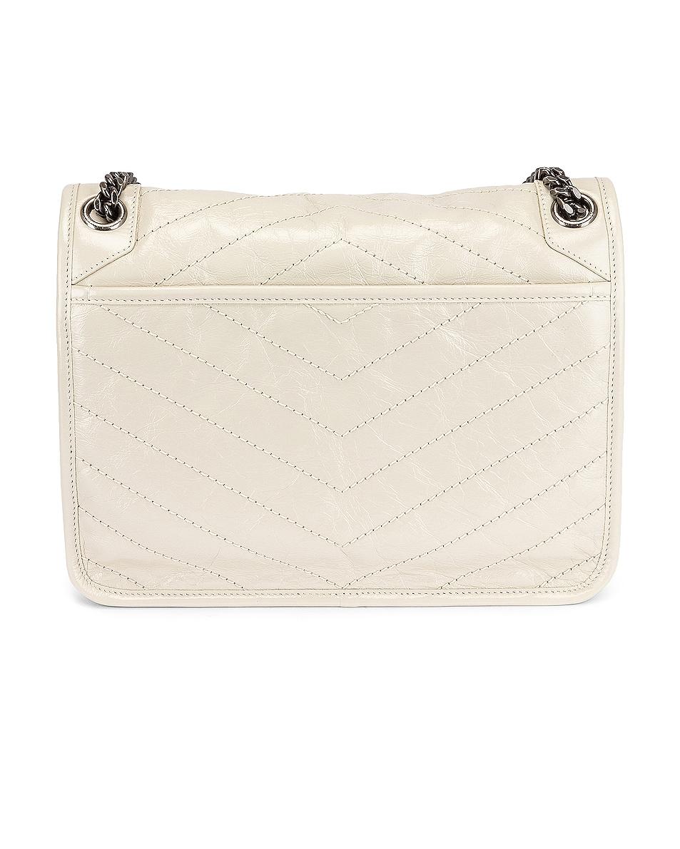 Image 3 of Saint Laurent Medium Niki Chain Bag in Blanc Vintage