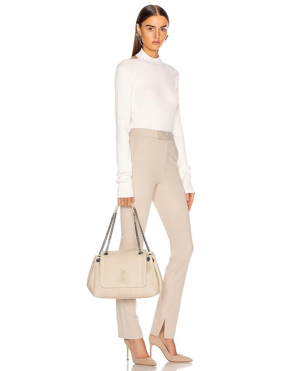 Image 2 of Saint Laurent Medium Nolita Chain Bag in Light Cream