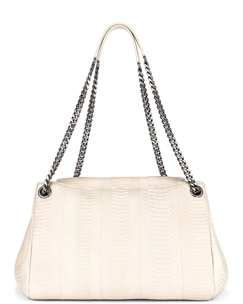 Image 3 of Saint Laurent Medium Nolita Chain Bag in Light Cream