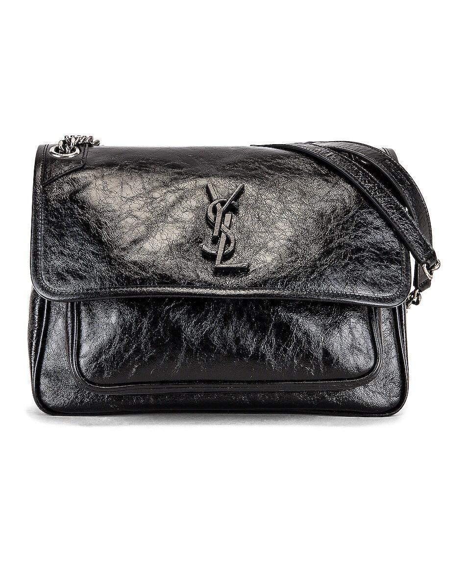 Image 1 of Saint Laurent Medium Niki Chain Bag in Black