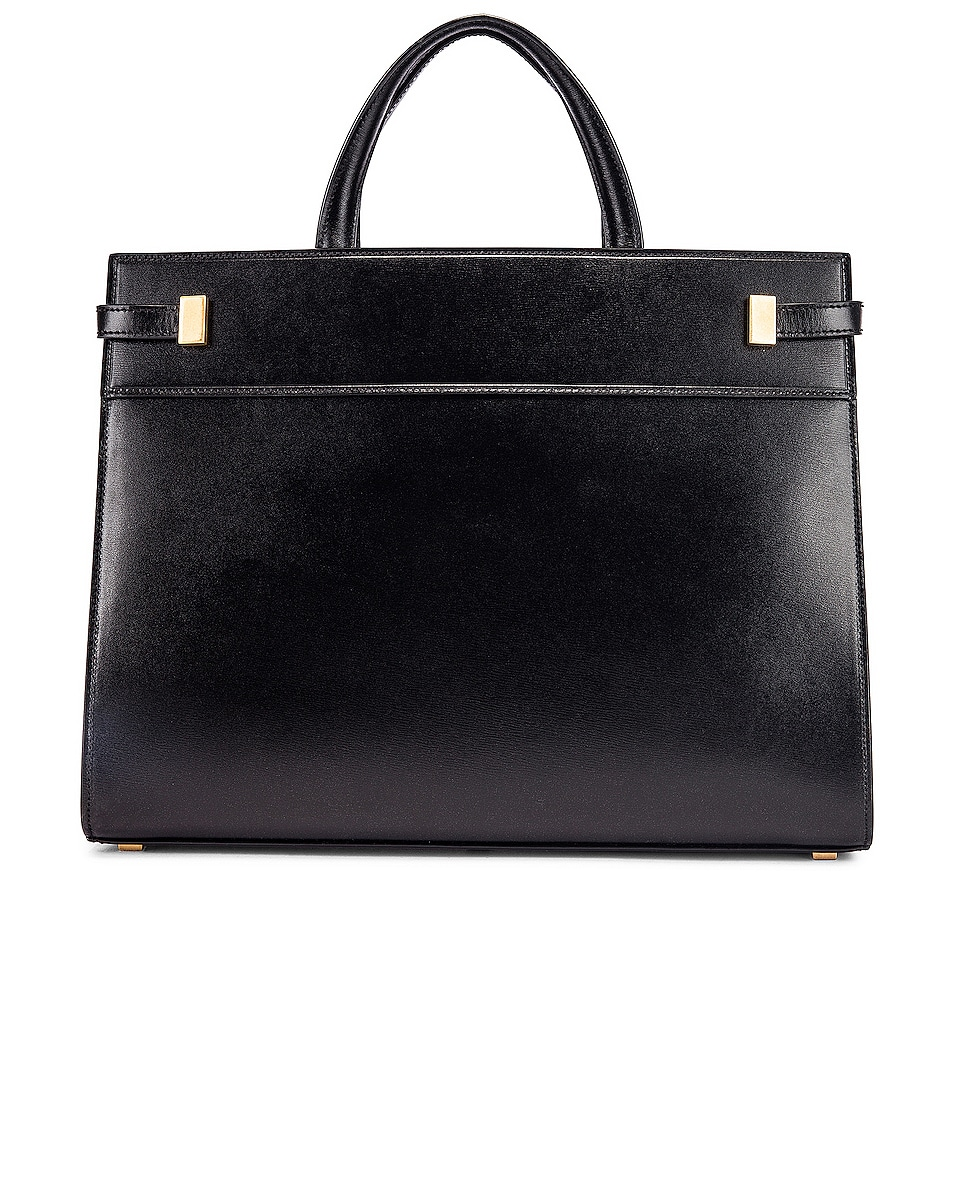 Image 3 of Saint Laurent Small Manhattan Shopping Tote Bag in Black