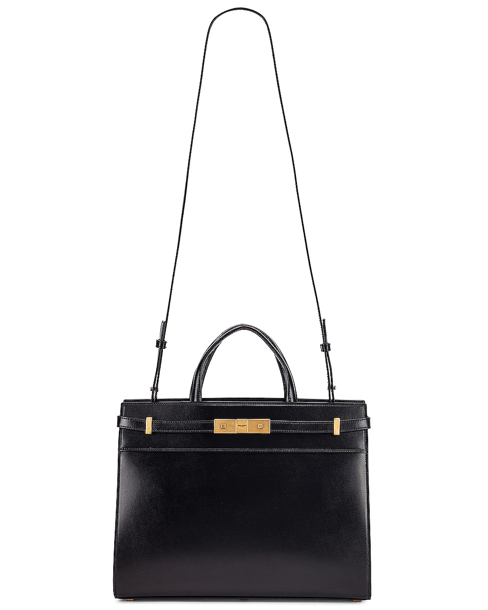 Image 6 of Saint Laurent Small Manhattan Shopping Tote Bag in Black