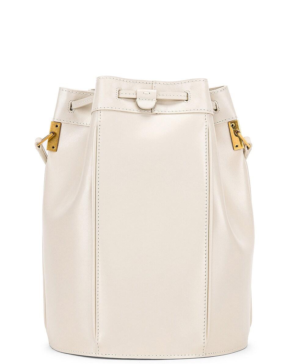 Image 3 of Saint Laurent Medium Talitha Bucket Bag in Blanc Vintage