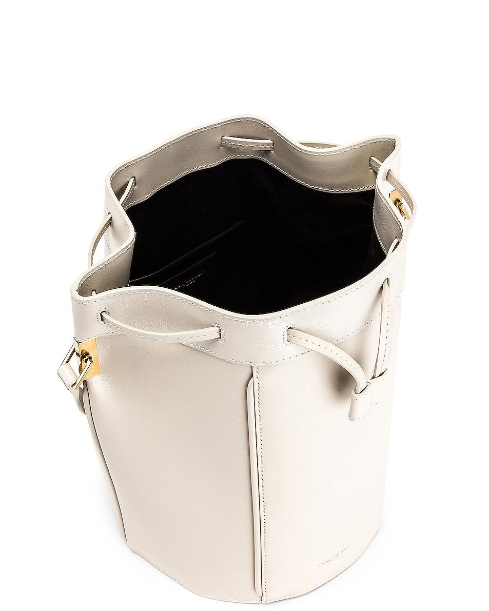 Image 5 of Saint Laurent Medium Talitha Bucket Bag in Blanc Vintage