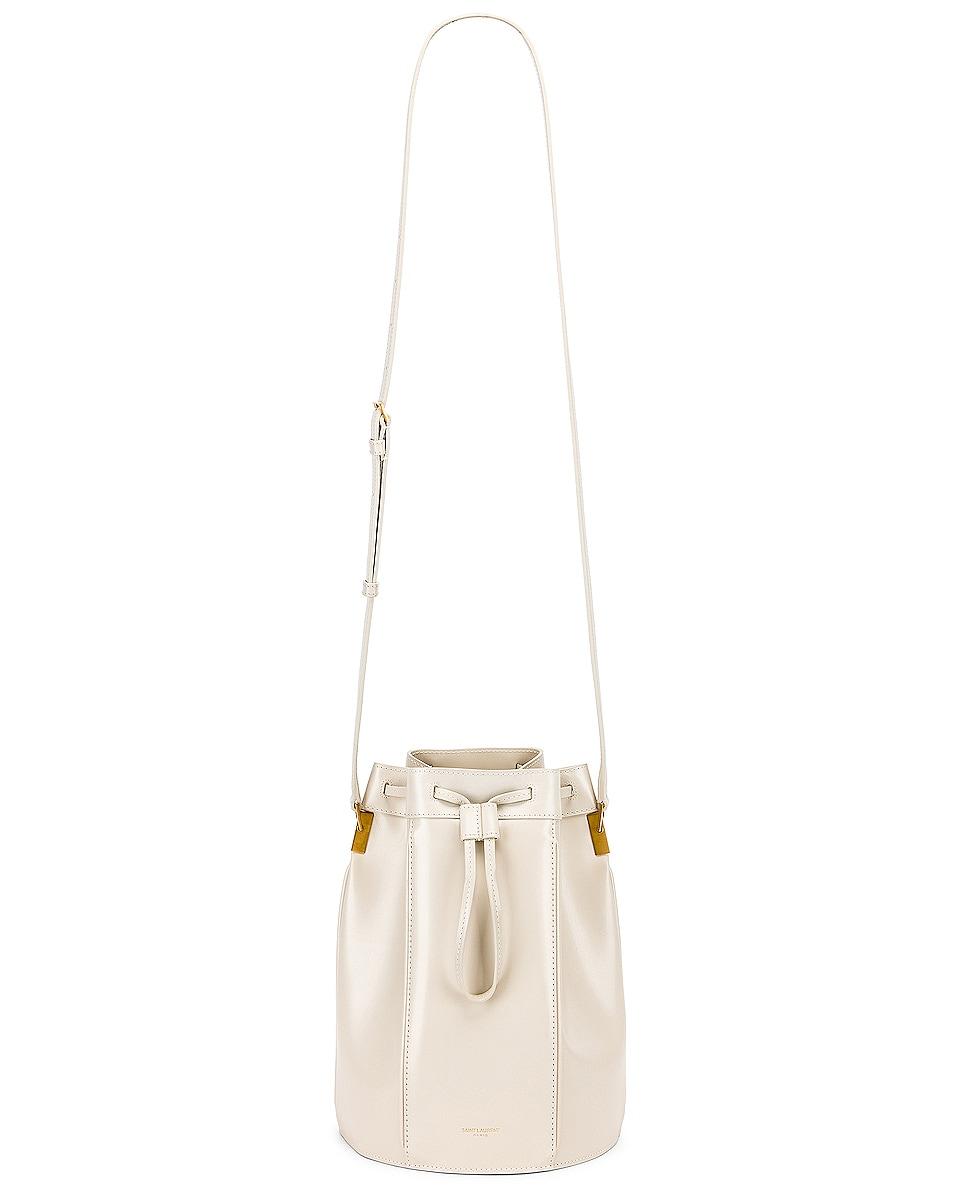 Image 6 of Saint Laurent Medium Talitha Bucket Bag in Blanc Vintage