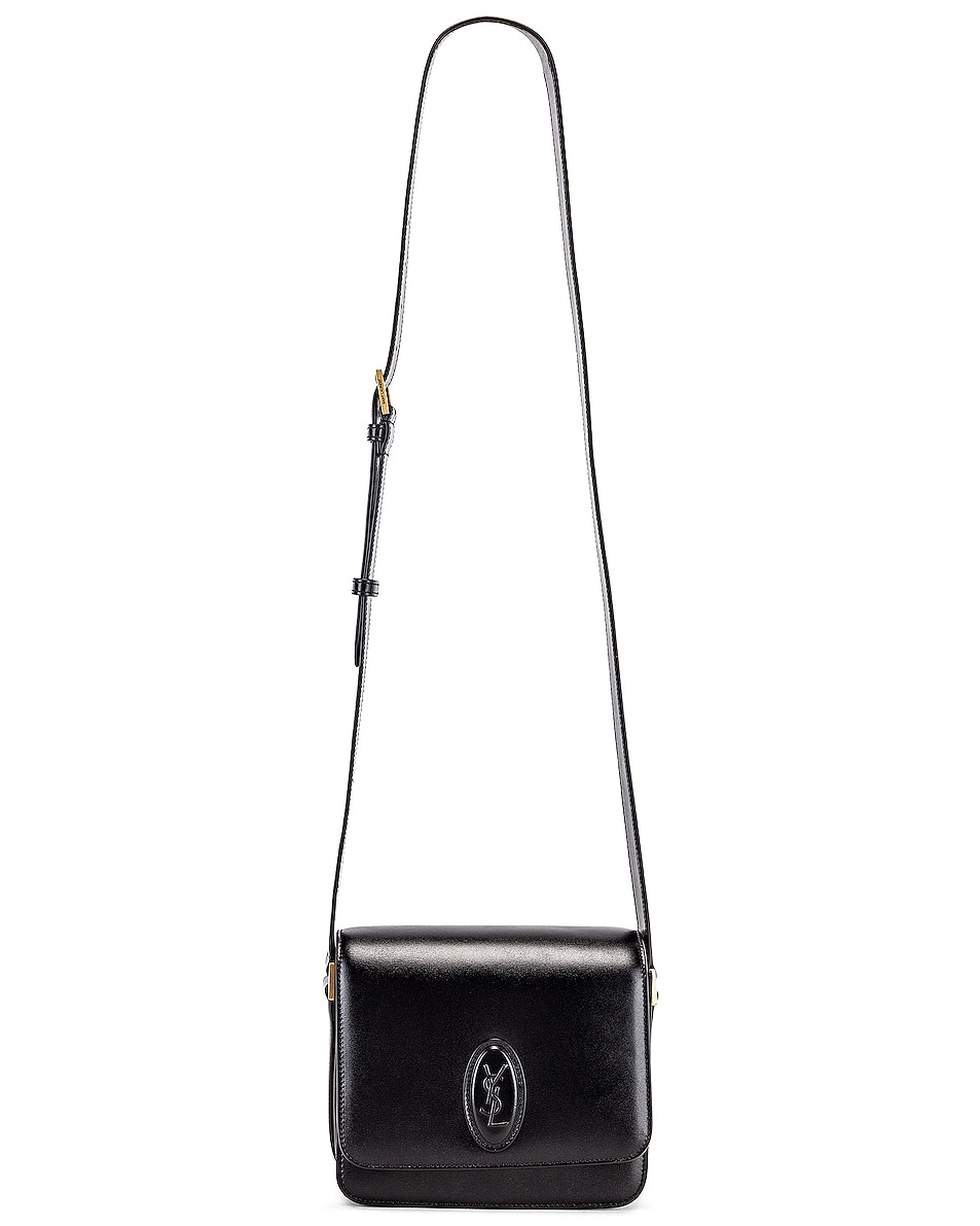 Image 6 of Saint Laurent Small Besace Le 61 Bag in Black