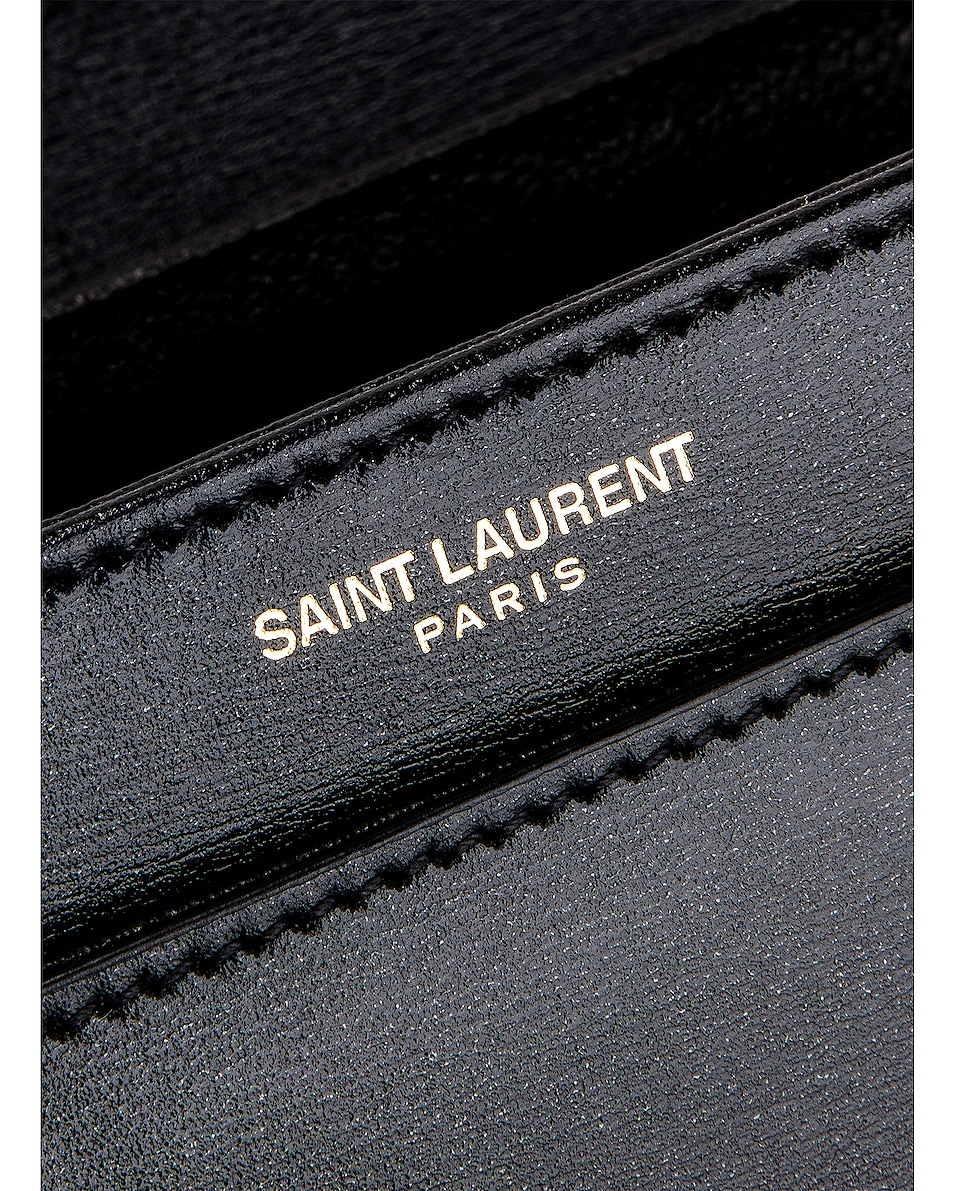 Image 7 of Saint Laurent Small Besace Le 61 Bag in Black