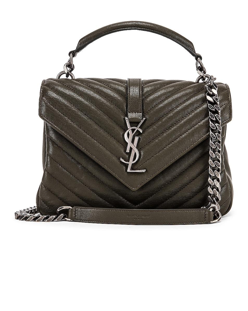 Image 1 of Saint Laurent Medium Monogramme College Bag in Dark Tea