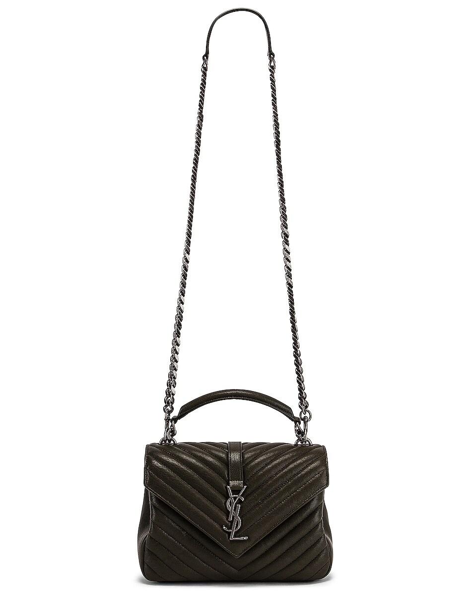 Image 6 of Saint Laurent Medium Monogramme College Bag in Dark Tea