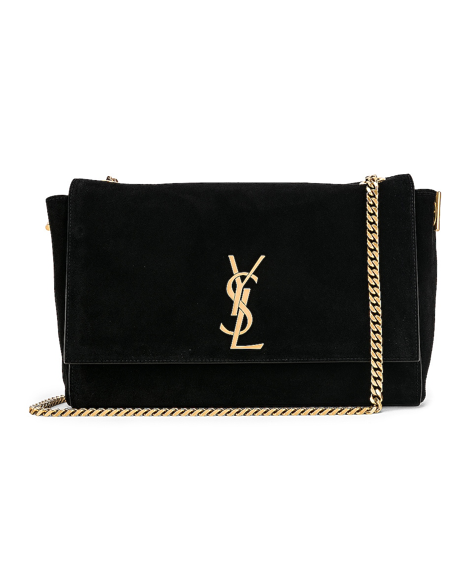 Image 1 of Saint Laurent Reversible Monogramme Kate Bag in Black