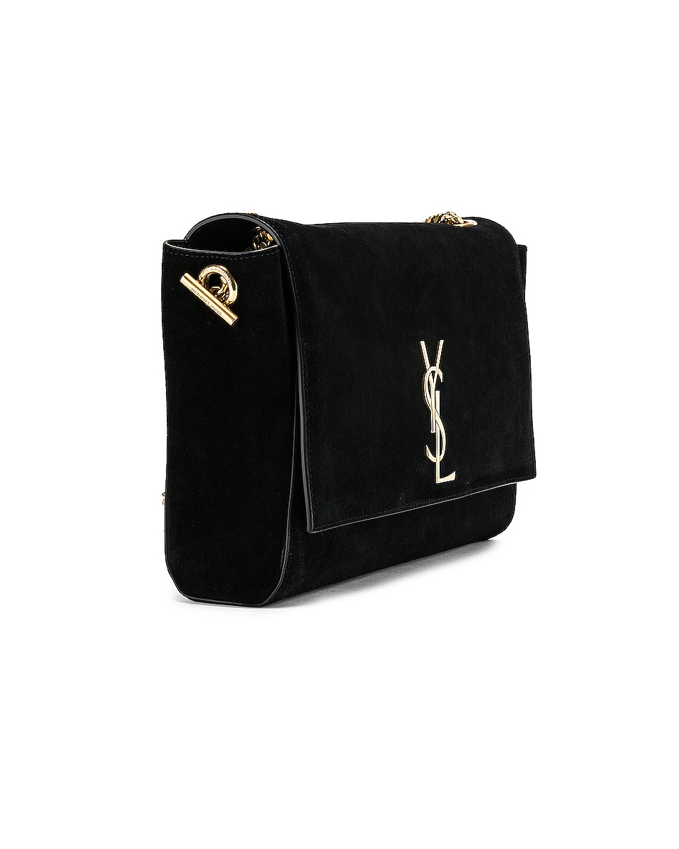 Image 5 of Saint Laurent Reversible Monogramme Kate Bag in Black