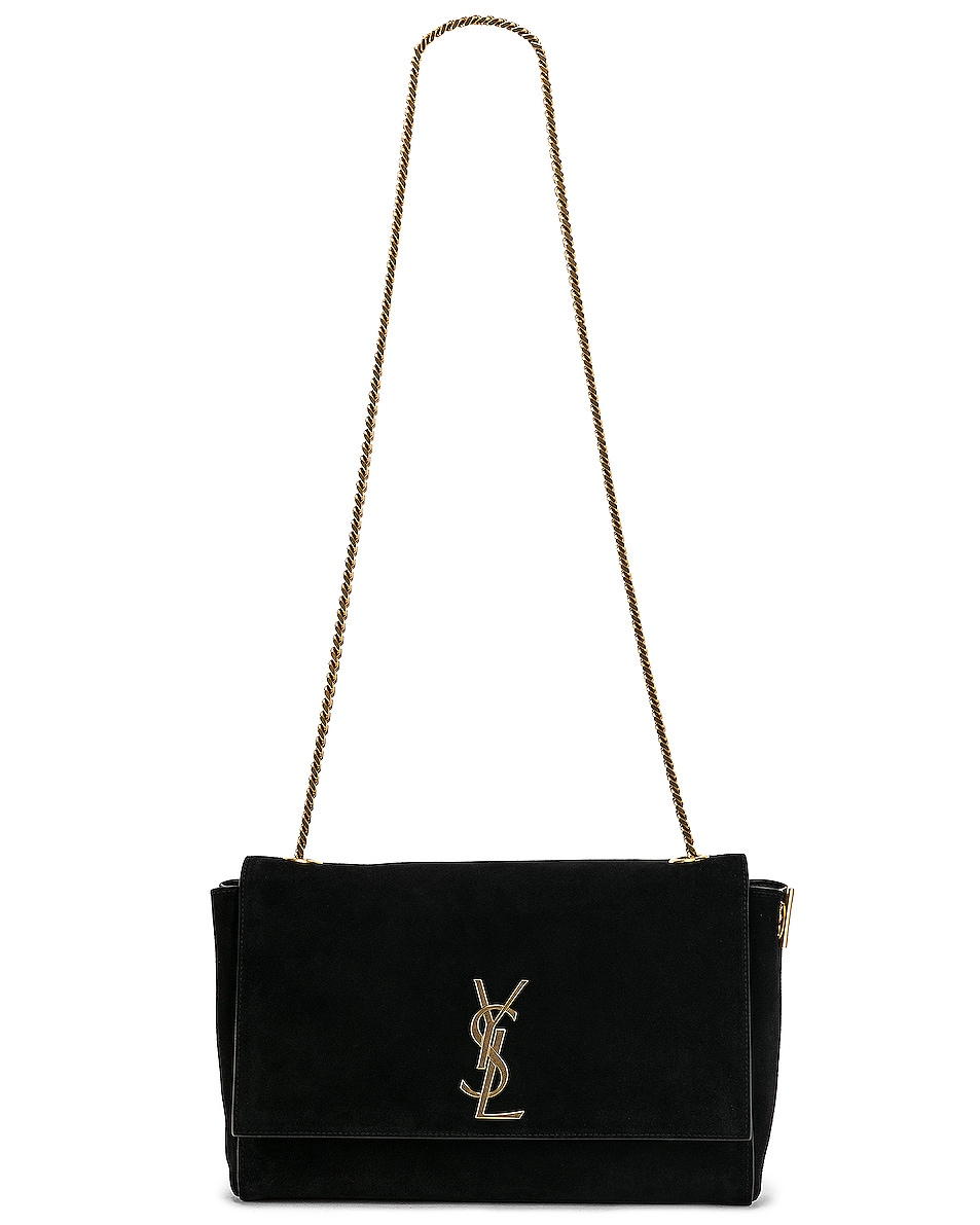 Image 7 of Saint Laurent Reversible Monogramme Kate Bag in Black