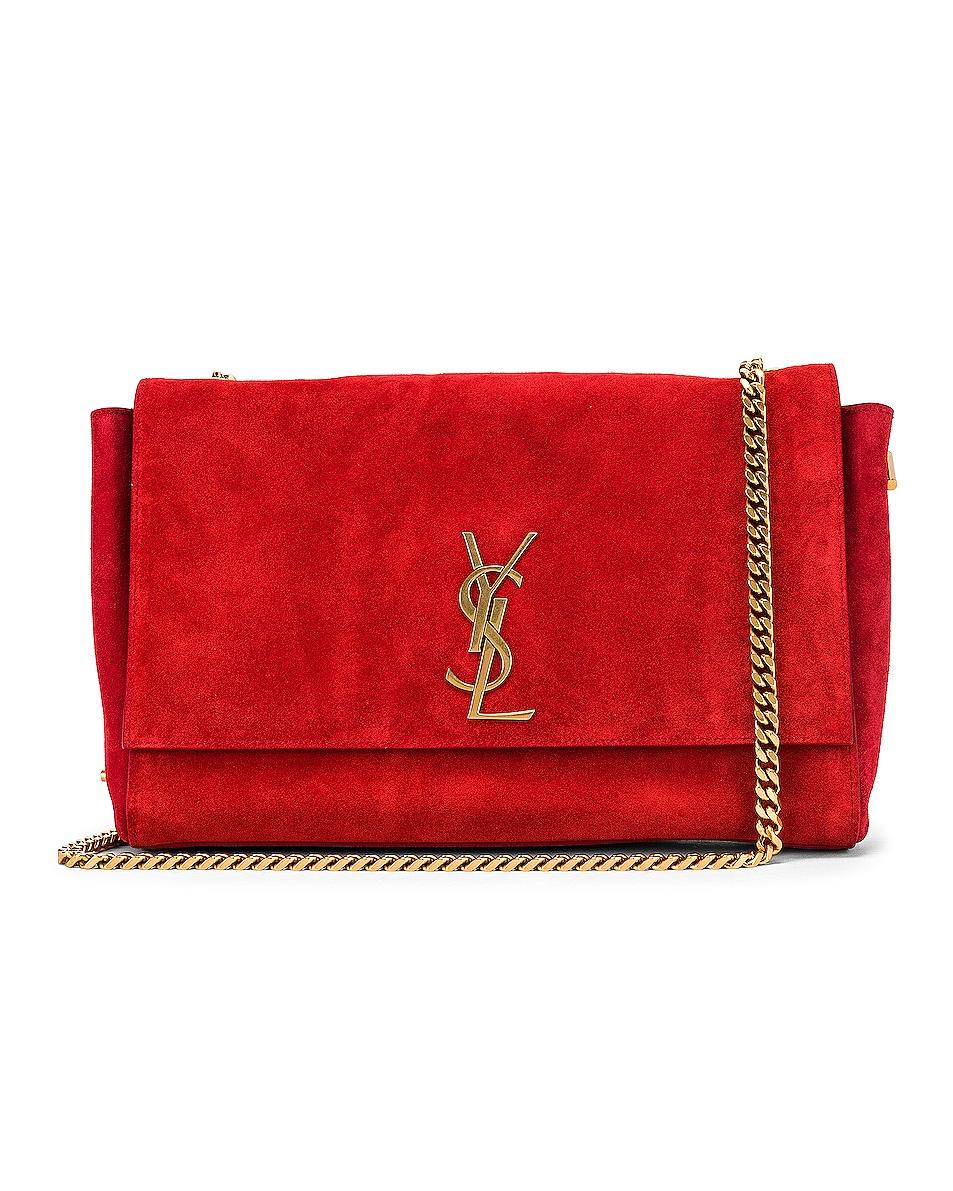 Image 1 of Saint Laurent Reversible Monogramme Kate Bag in Rouge Eros