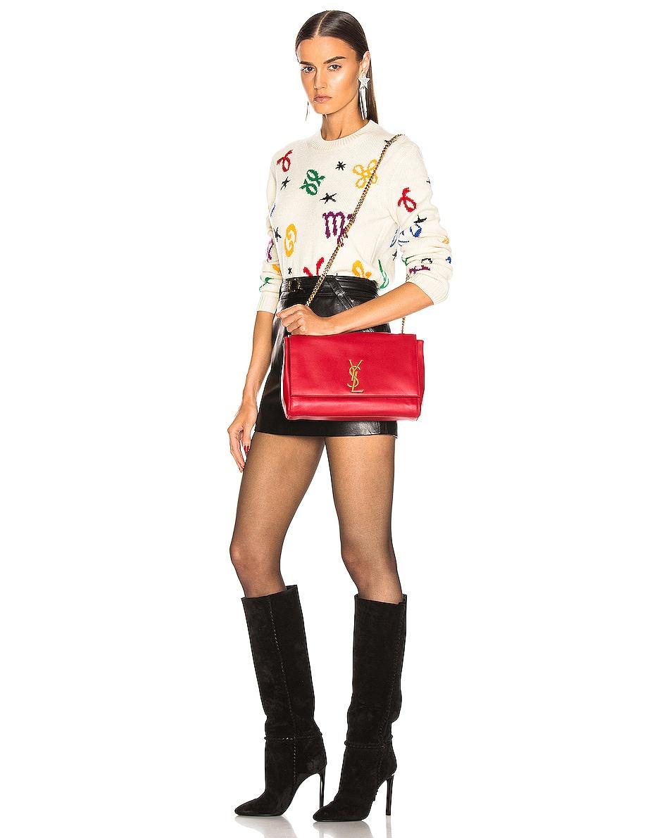 Image 2 of Saint Laurent Reversible Monogramme Kate Bag in Rouge Eros