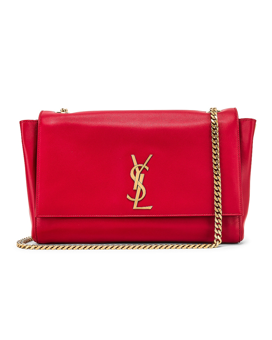 Image 3 of Saint Laurent Reversible Monogramme Kate Bag in Rouge Eros