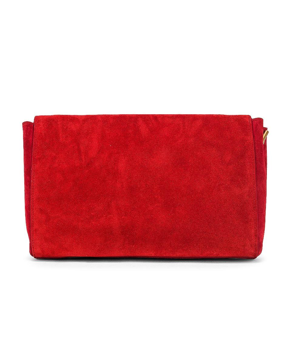 Image 4 of Saint Laurent Reversible Monogramme Kate Bag in Rouge Eros