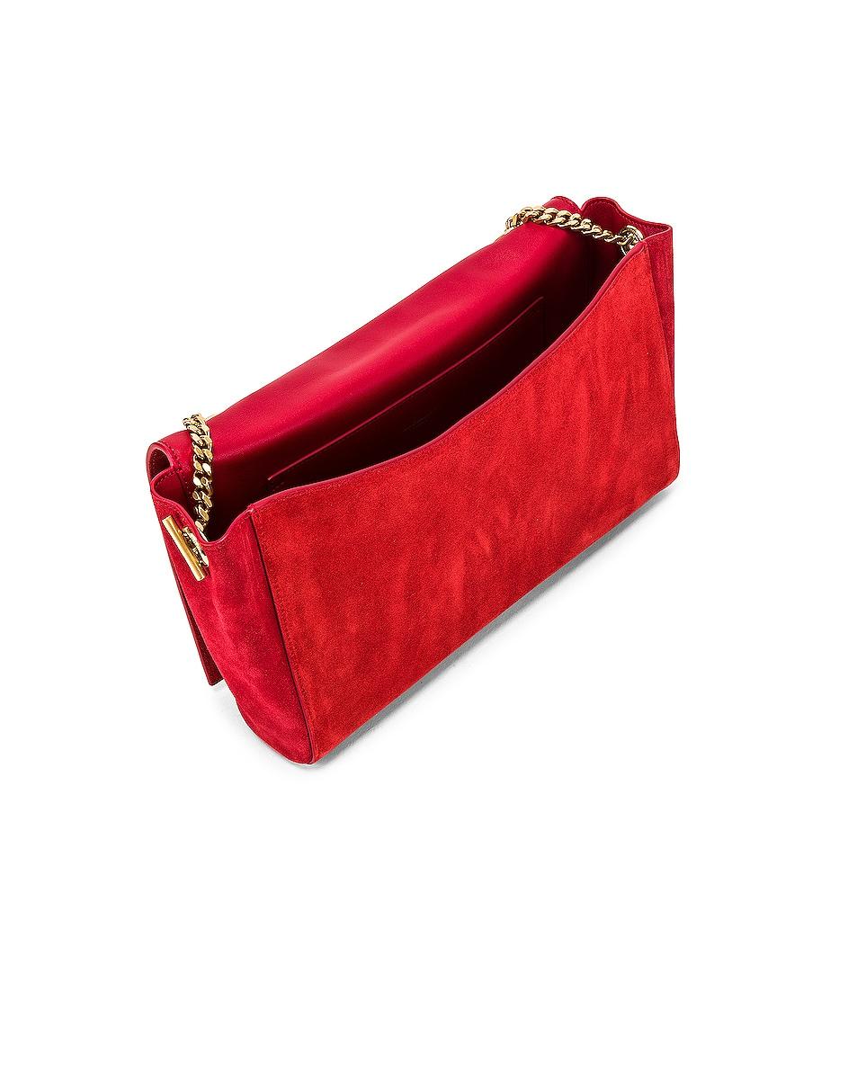Image 6 of Saint Laurent Reversible Monogramme Kate Bag in Rouge Eros