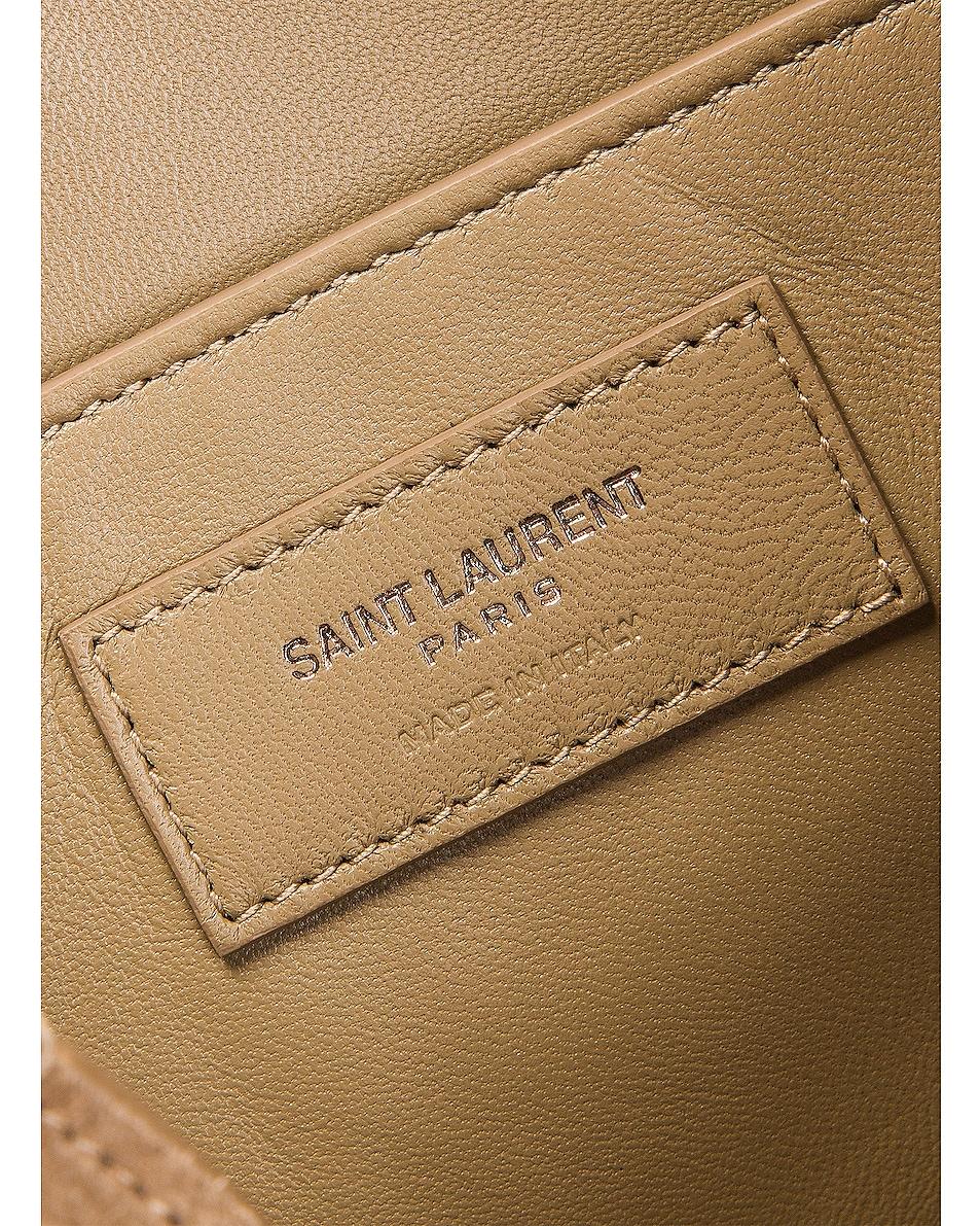 Image 6 of Saint Laurent Amalia Stud Satchel Bag in Beige Vintage