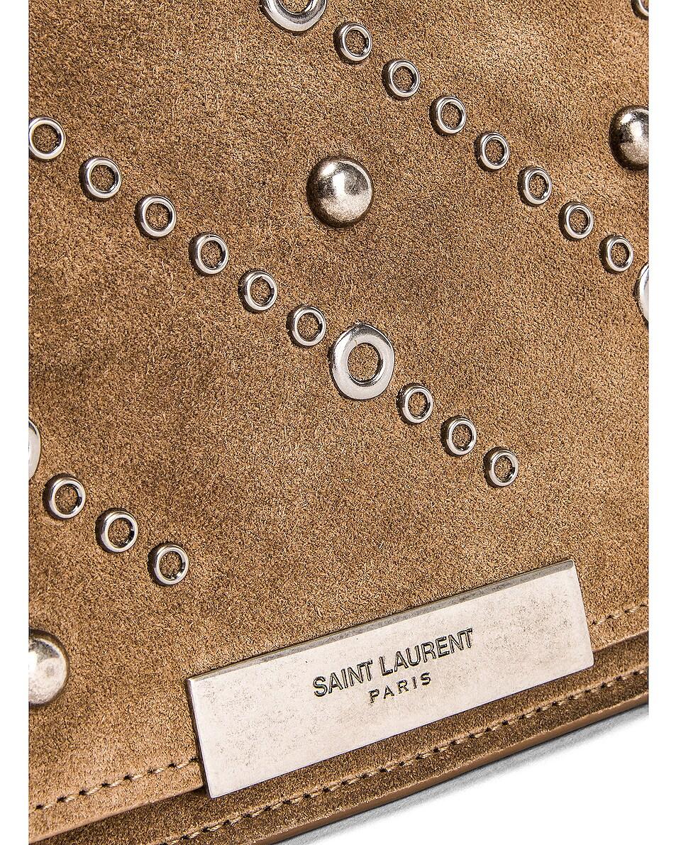 Image 7 of Saint Laurent Amalia Stud Satchel Bag in Beige Vintage