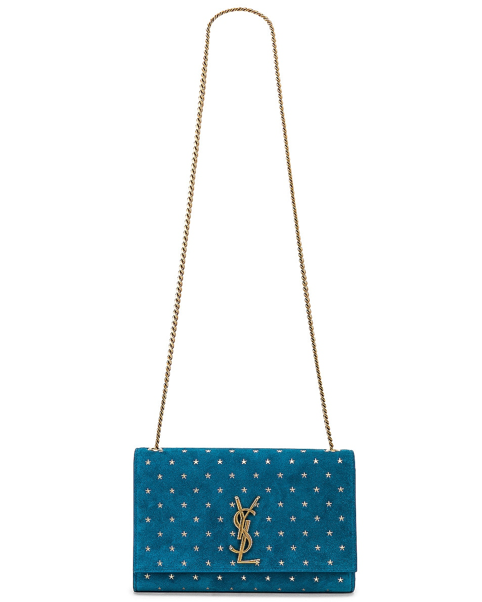 Image 6 of Saint Laurent Medium Kate Monogramme Bag in Deep Sea