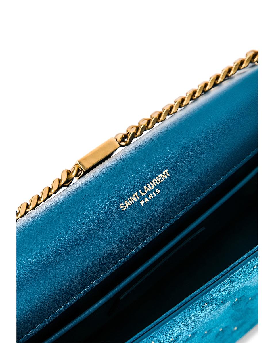 Image 7 of Saint Laurent Medium Kate Monogramme Bag in Deep Sea