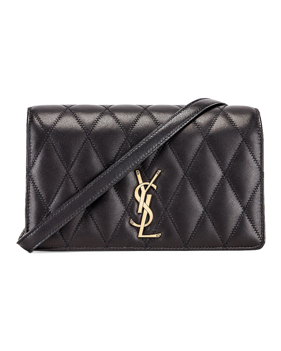 Image 1 of Saint Laurent Angie Crossbody Bag in Black