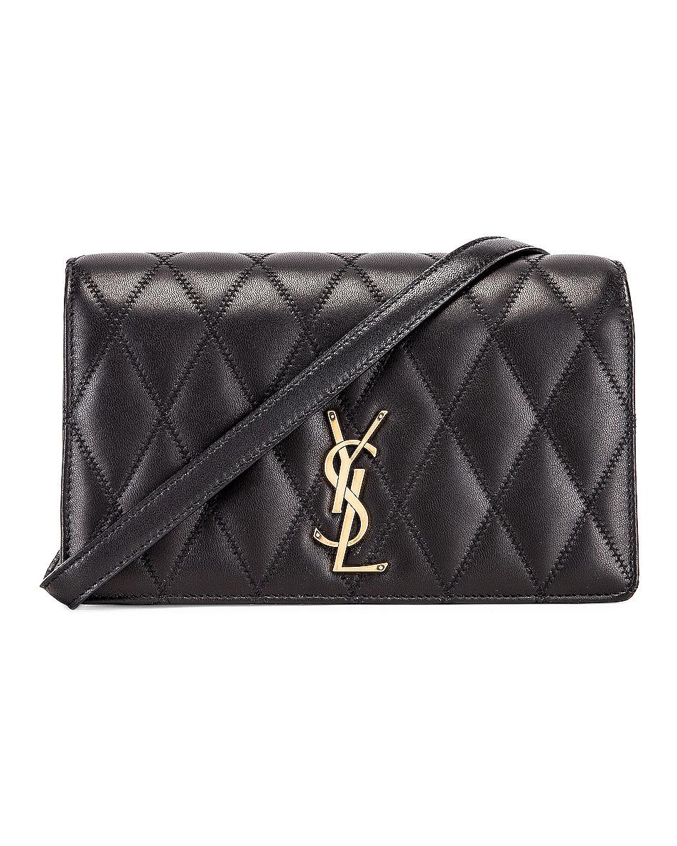Image 1 of Saint Laurent Angie Crossbody Bag in Black