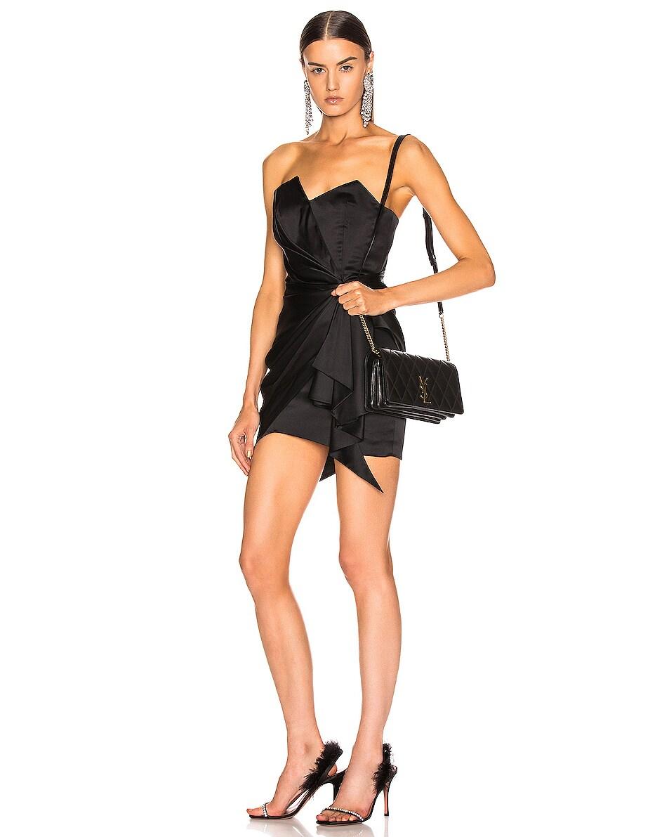 Image 2 of Saint Laurent Angie Crossbody Bag in Black