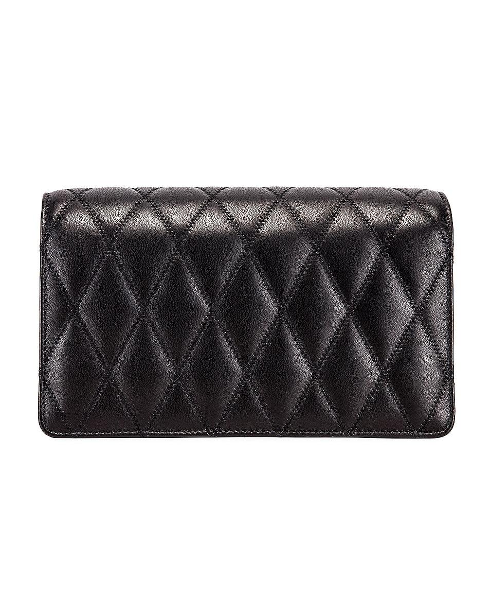 Image 3 of Saint Laurent Angie Crossbody Bag in Black