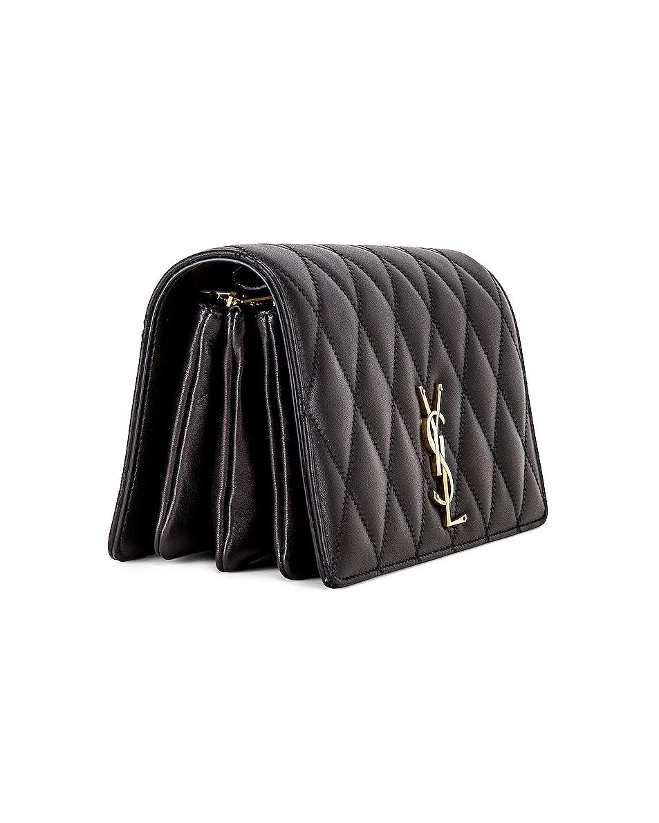 Image 4 of Saint Laurent Angie Crossbody Bag in Black