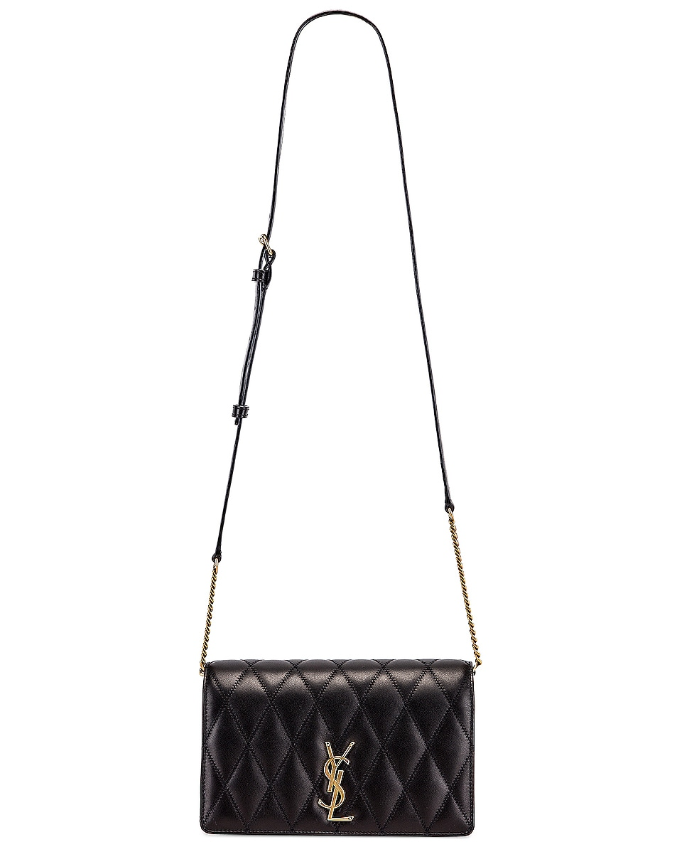 Image 6 of Saint Laurent Angie Crossbody Bag in Black