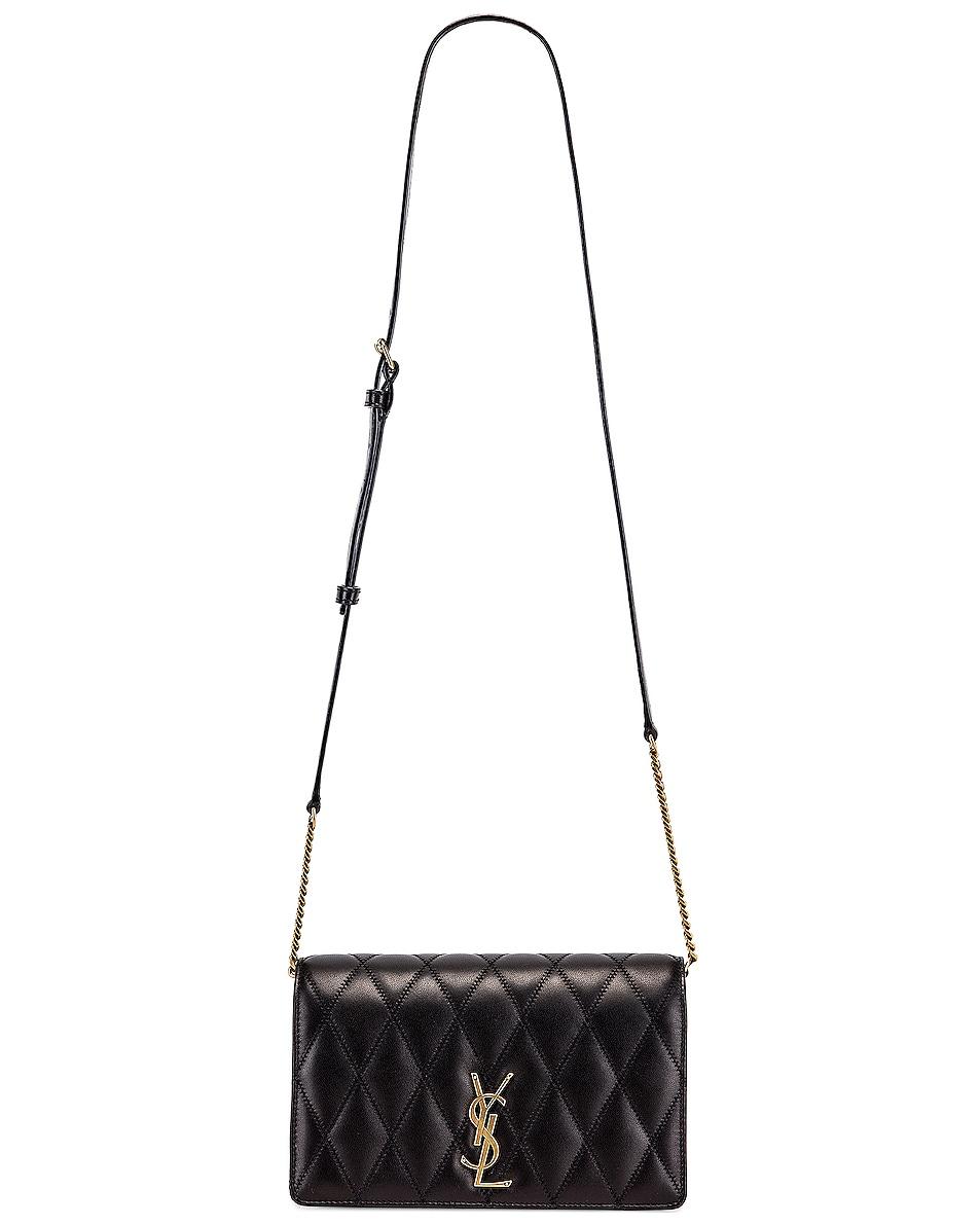 Image 6 of Saint Laurent Angie Crossbody Bag in Black