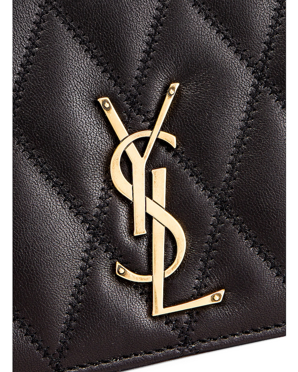 Image 8 of Saint Laurent Angie Crossbody Bag in Black