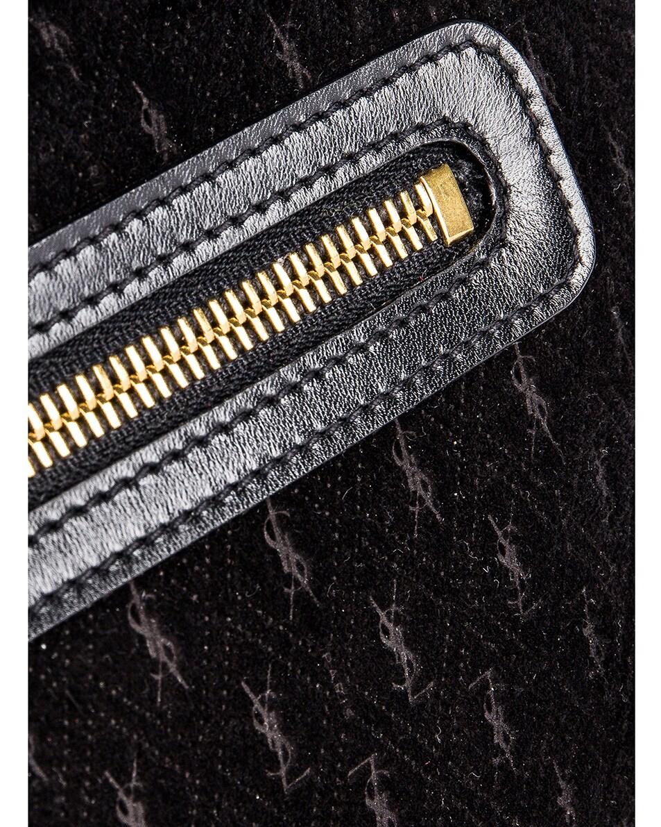 Image 3 of Saint Laurent Suede Monogramme Camera Bag in Black