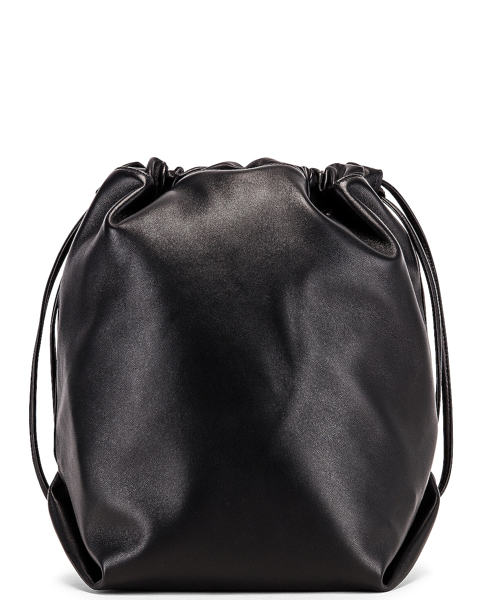 Image 3 of Saint Laurent Supple Logo Teddy Pouch in Black