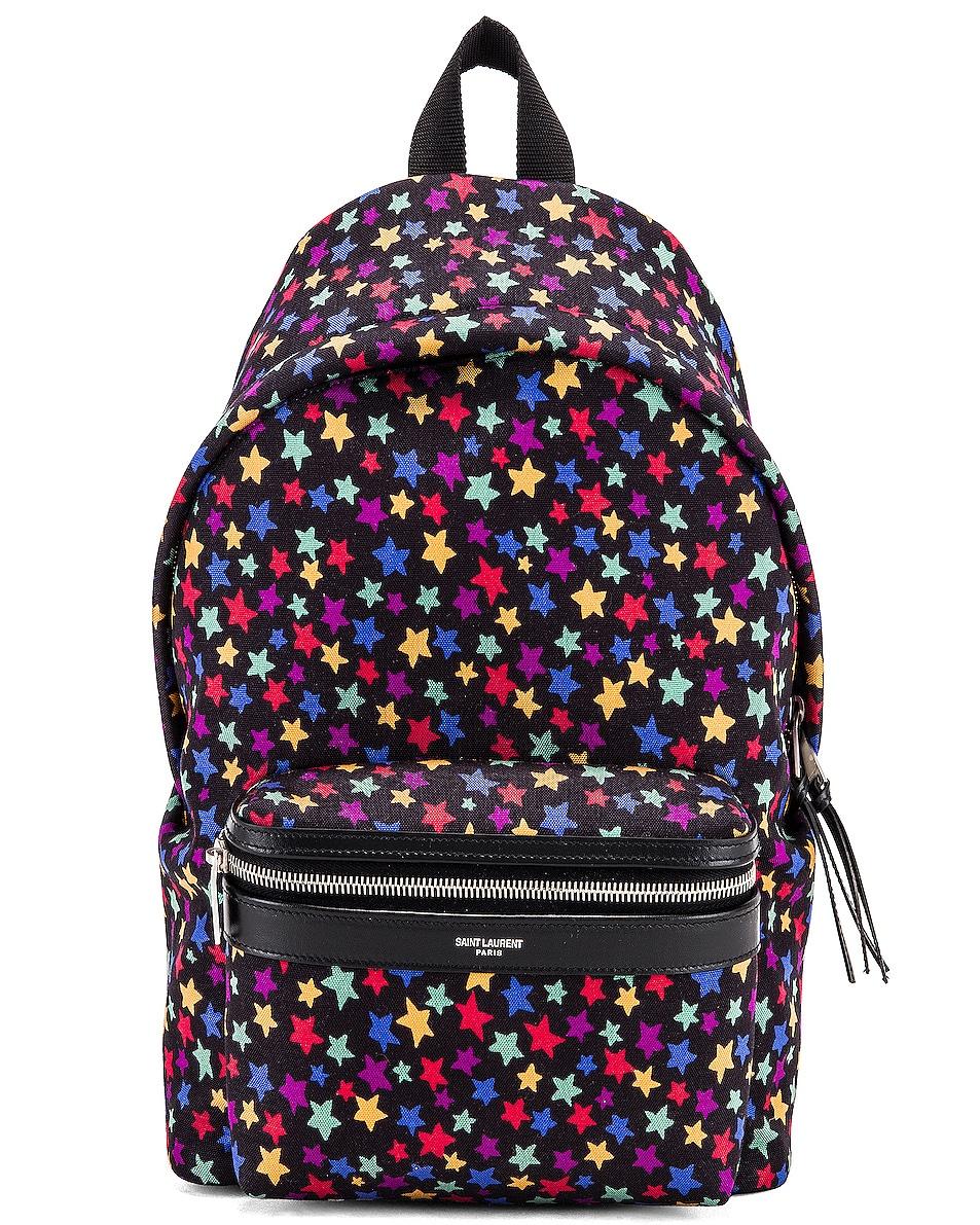 Image 1 of Saint Laurent Star Mini City Backpack in Black & Multicolor