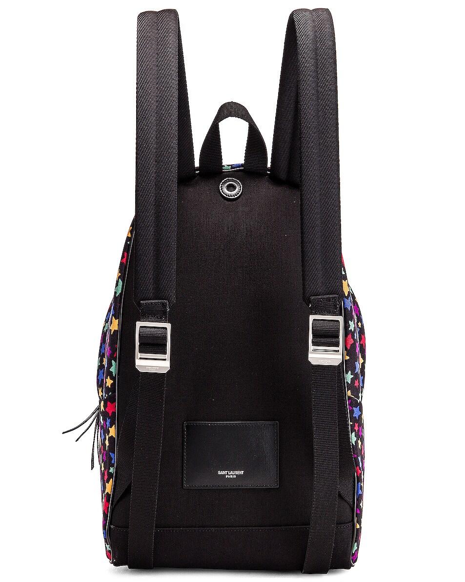 Image 3 of Saint Laurent Star Mini City Backpack in Black & Multicolor