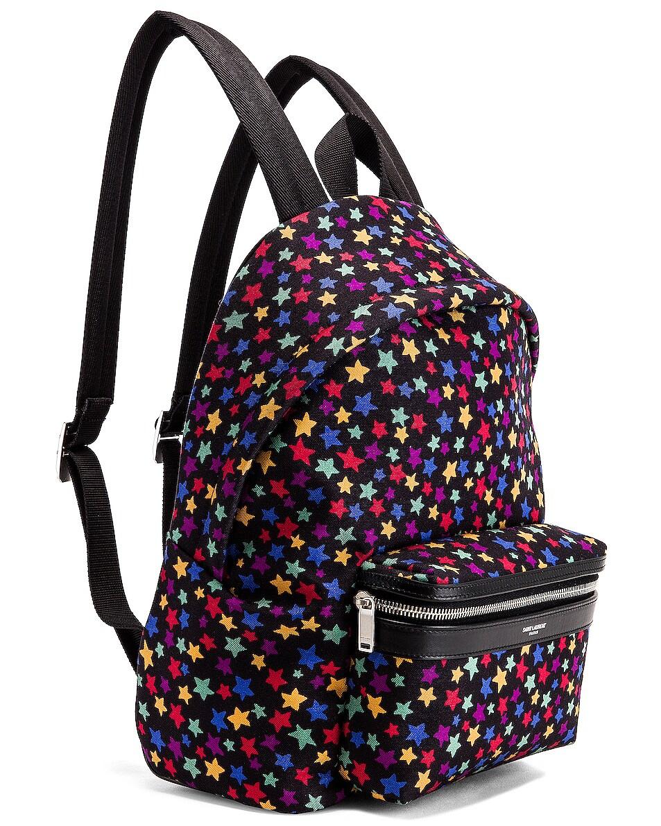Image 4 of Saint Laurent Star Mini City Backpack in Black & Multicolor