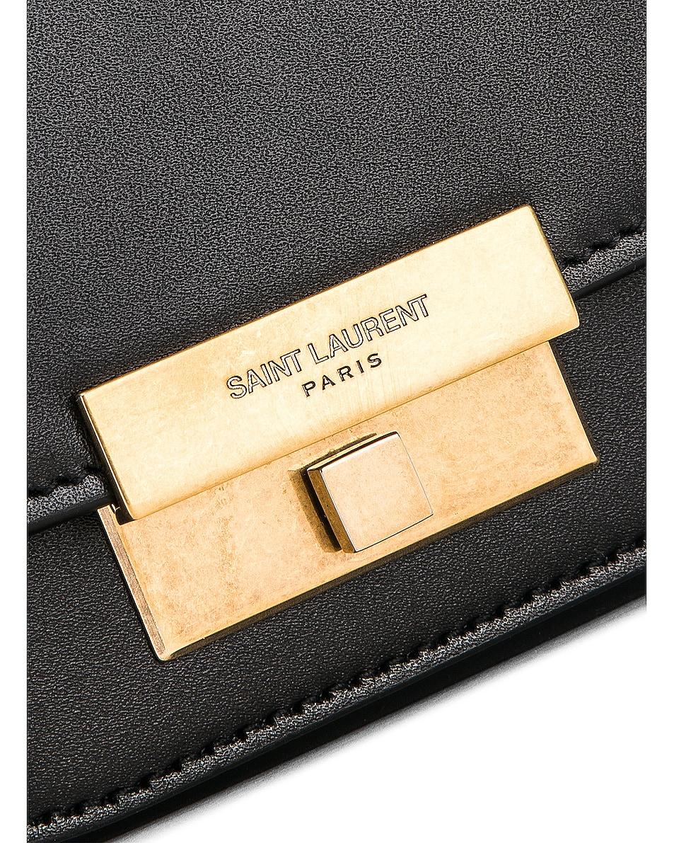 Image 6 of Saint Laurent Mini Betty Satchel Bag in Black