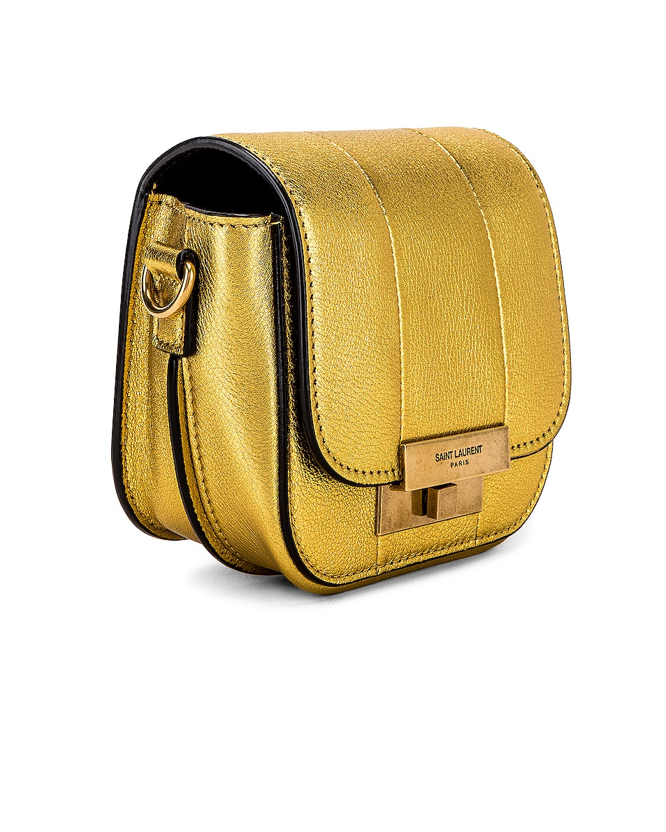 Image 4 of Saint Laurent Mini Betty Satchel Bag in Gold