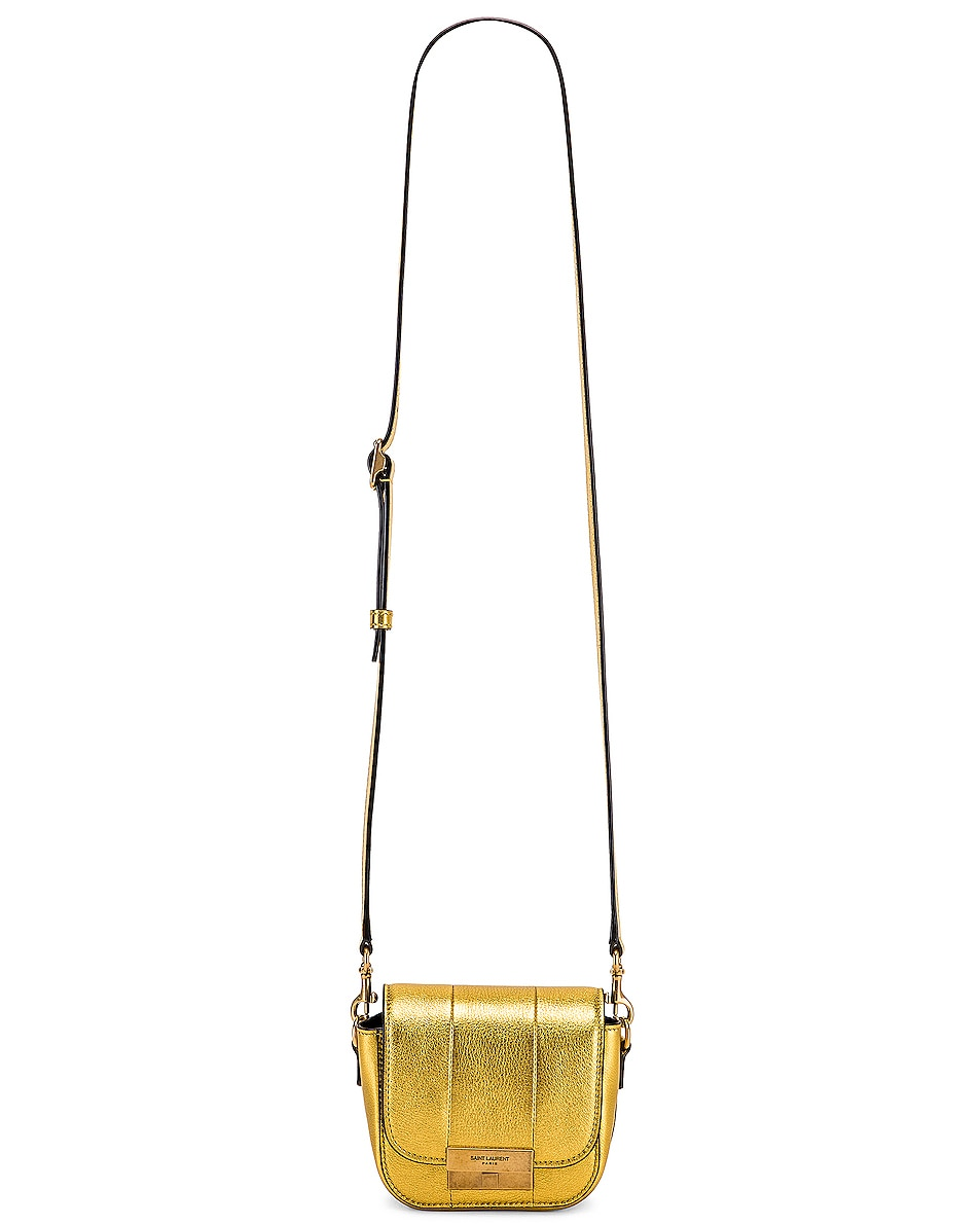 Image 6 of Saint Laurent Mini Betty Satchel Bag in Gold