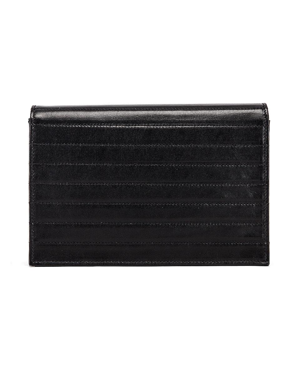 Image 3 of Saint Laurent Victoire Chain Wallet Bag in Black