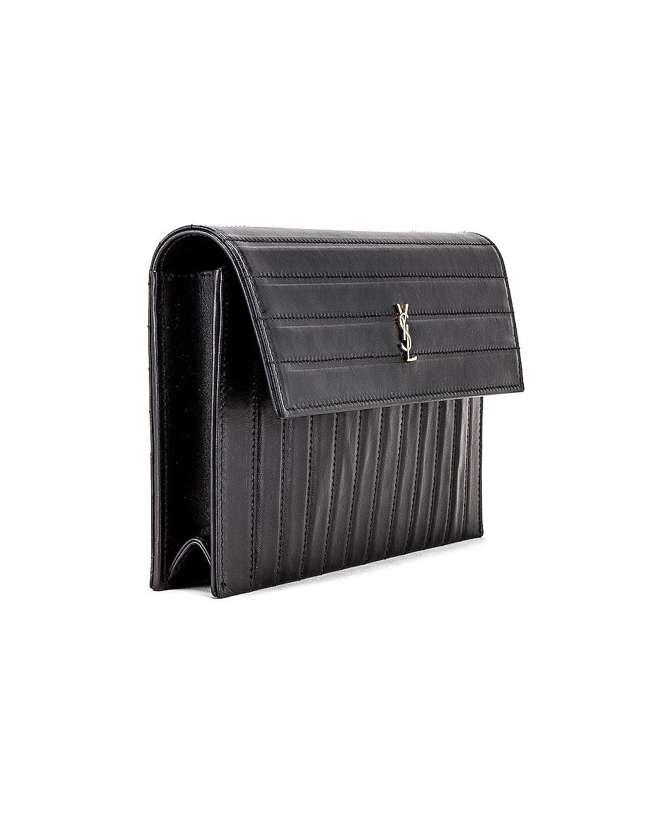 Image 4 of Saint Laurent Victoire Chain Wallet Bag in Black